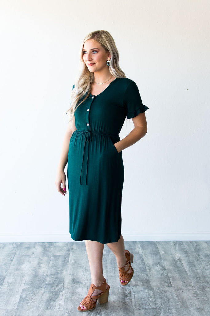 ROSALIE DRESS | HUNTER GREEN
