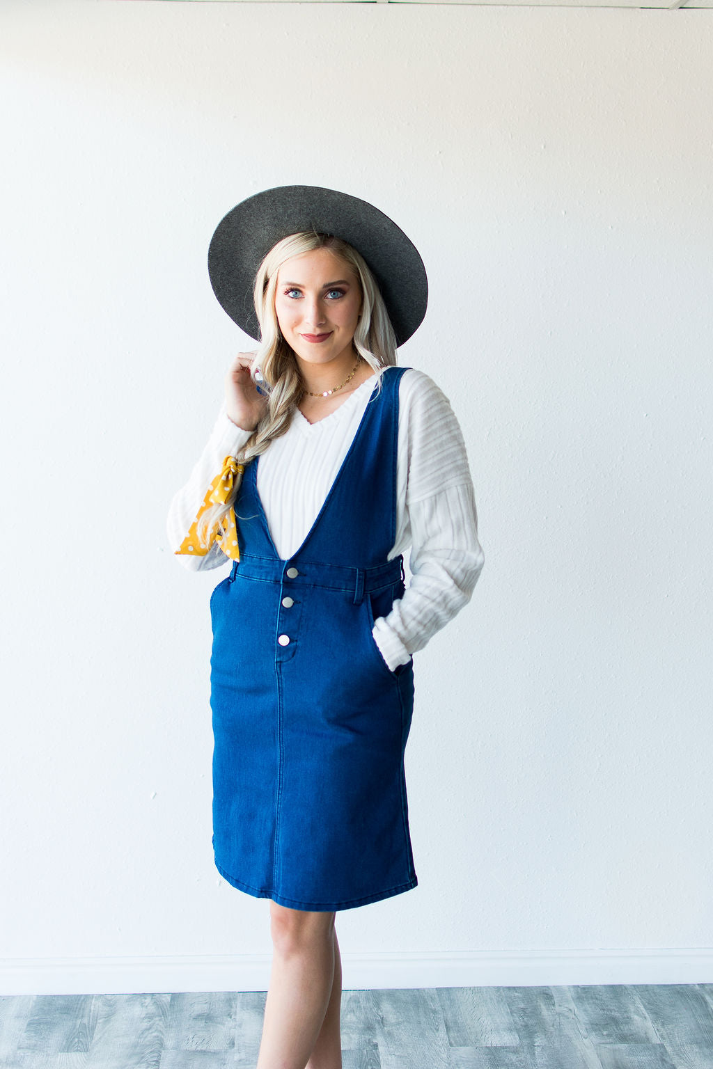 d4f34b2f1b MAYWOOD DENIM JUMPER DRESS – Simply Reese