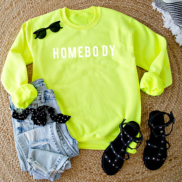 HOMEBODY PULLOVER | NEON YELLOW