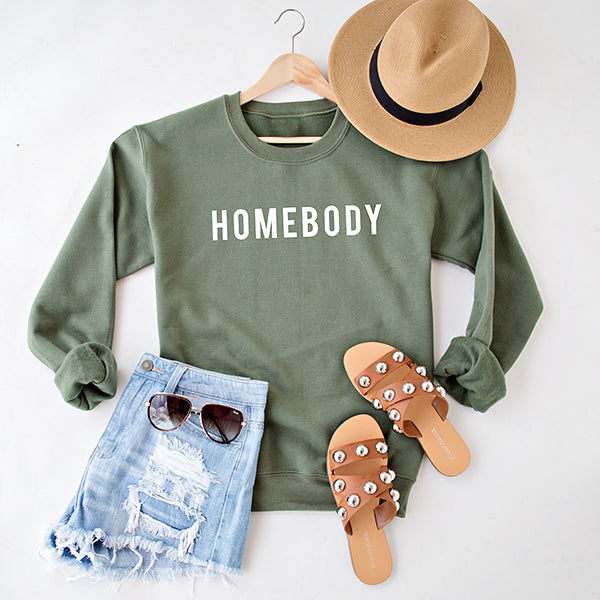 HOMEBODY PULLOVER | OLIVE