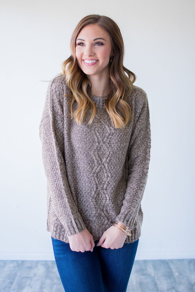 CAMPBELL SWEATER | TAUPE