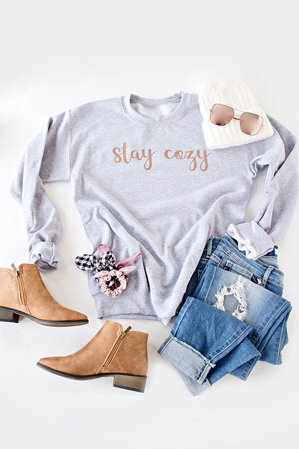 STAY COZY PULLOVER | ROSE GOLD SHIMMER