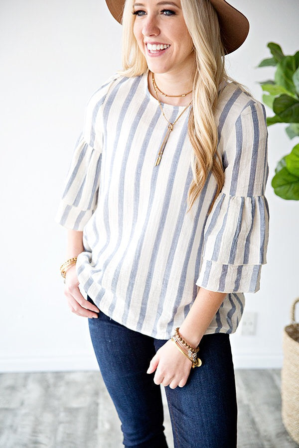DEMI STRIPE TOP