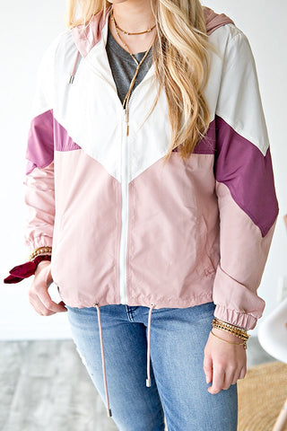 COLOR BLOCK WIND BREAKER JACKET |
