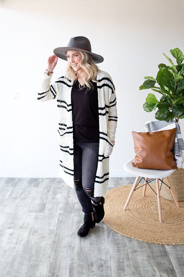 BERKLEY DUSTER CARDIGAN | STRIPED