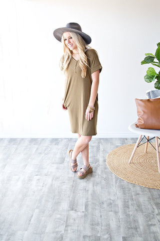 CUMBERLAND TEE SHIRT DRESS | OLIVE