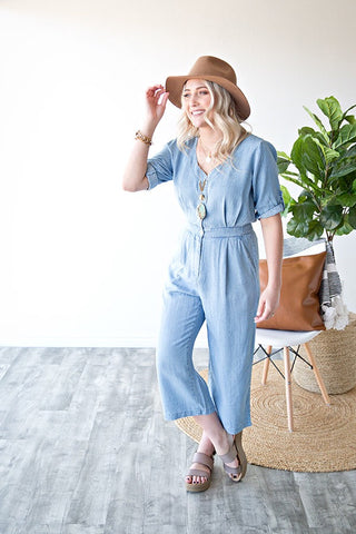 EMMELINE DENIM JUMPSUIT