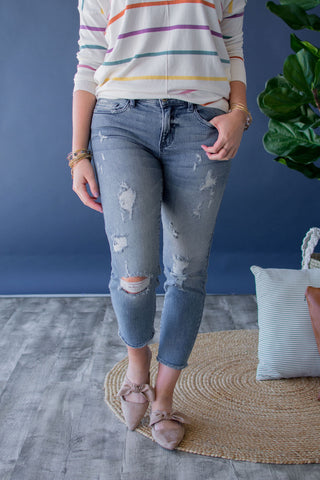 BLAIR BOYFRIEND CROP DENIM | LIGHT WASH