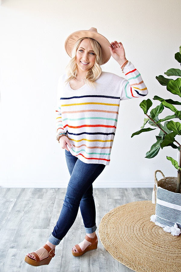 PROMISE OF SPRING SWEATER | STRIPES