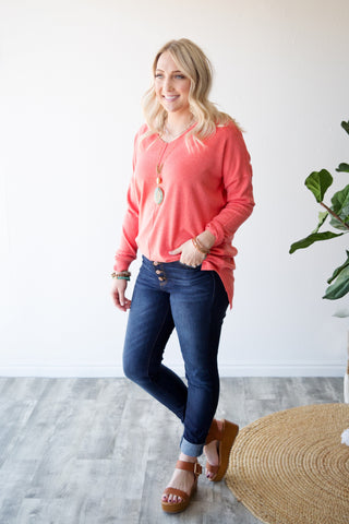 WILLOW SWEATER | CORAL