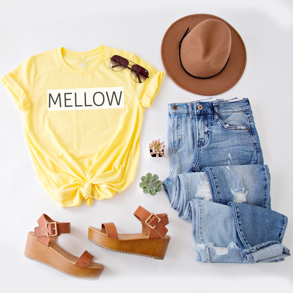 MELLOW YELLOW GRAPHIC TEE | YELLOW