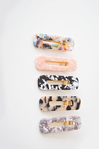 ASSORTED ACRYLIC BARRETTES