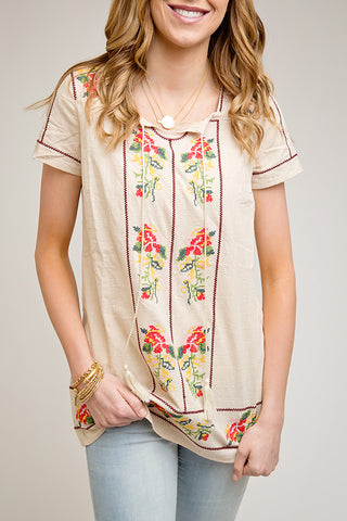 EMBROIDERED SUMMER TUNIC