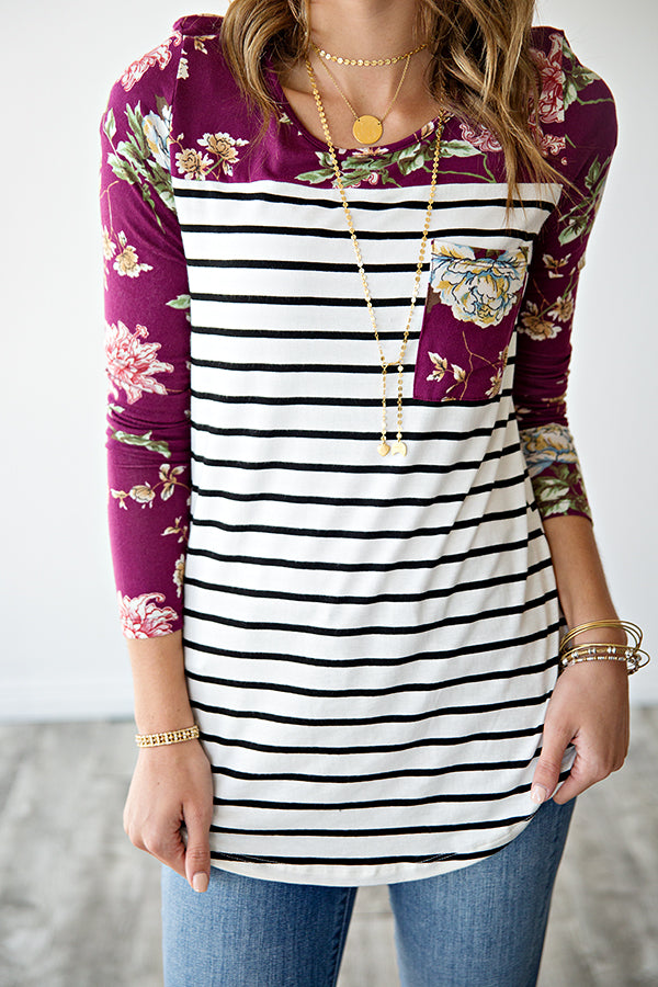 ADDIE FLORAL BASEBALL TUNIC