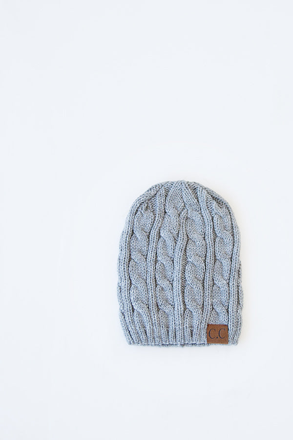 CABLE KNIT BEANIE | BURGUNDY