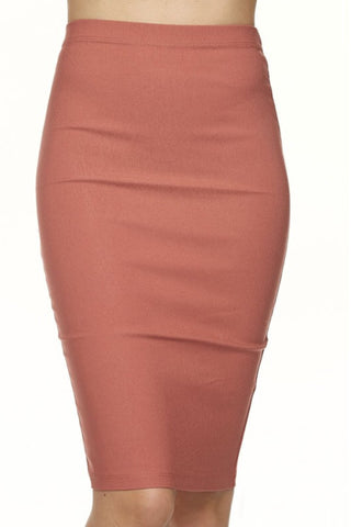 MARSALA PENCIL SKIRT