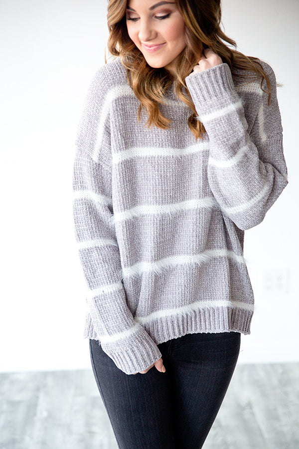 BENTLEE  STRIPED SWEATER