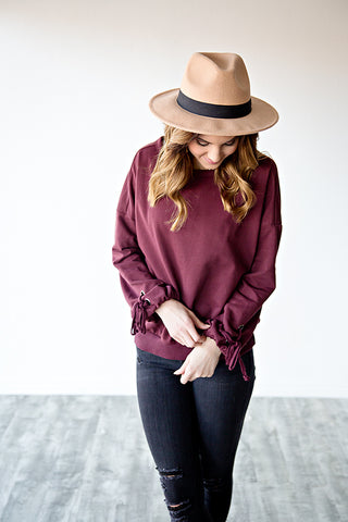 LANA LACE SLEEVE PULLOVER