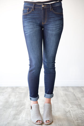 KINSLEY DARK WASH DENIM