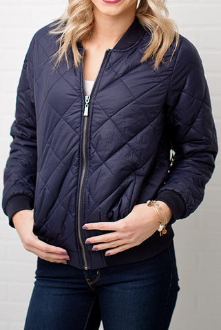 PADDED JACKET | NAVY