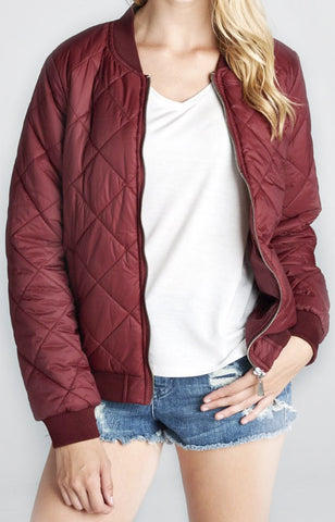 PADDED JACKET | MAROON