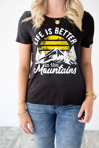 BETTER IN THE MOUNTAINS GRAPHIC TEE | BLACK