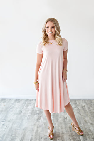 TEE SHIRT DRESS | BLUSH