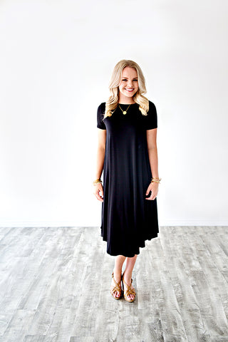 TEE SHIRT DRESS | BLACK