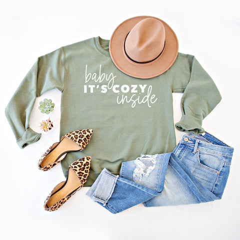 BABY IT'S COZY INSIDE | OLIVE