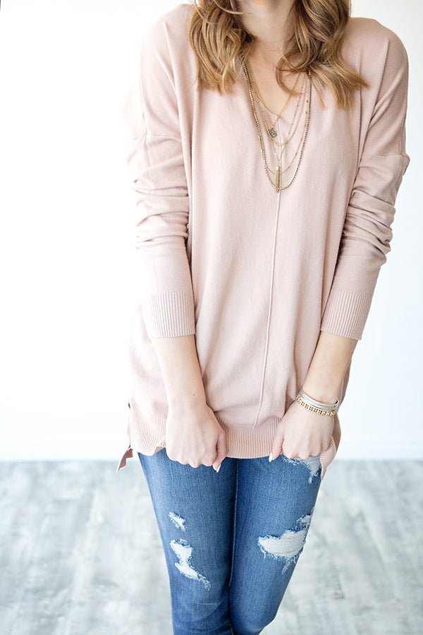 WILLOW SWEATER | BLUSH