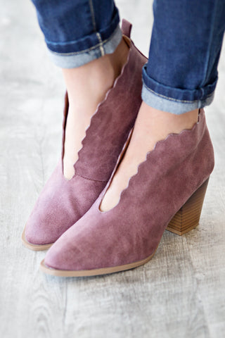 DAHLIA ANKLE BOOTIE | DUSTY ROSE