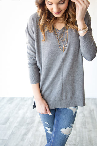 WILLOW SWEATER | CHARCOAL