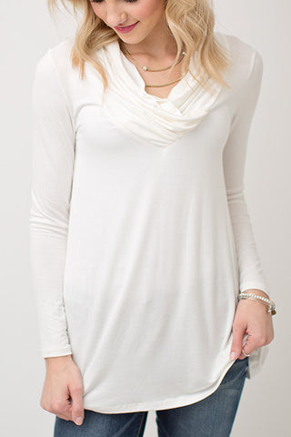 DETAILED NECK TUNIC | IVORY