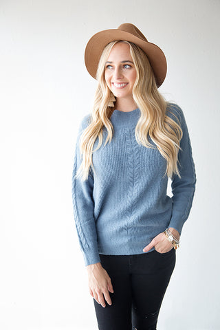 ALTA SWEATER | DUSTY BLUE