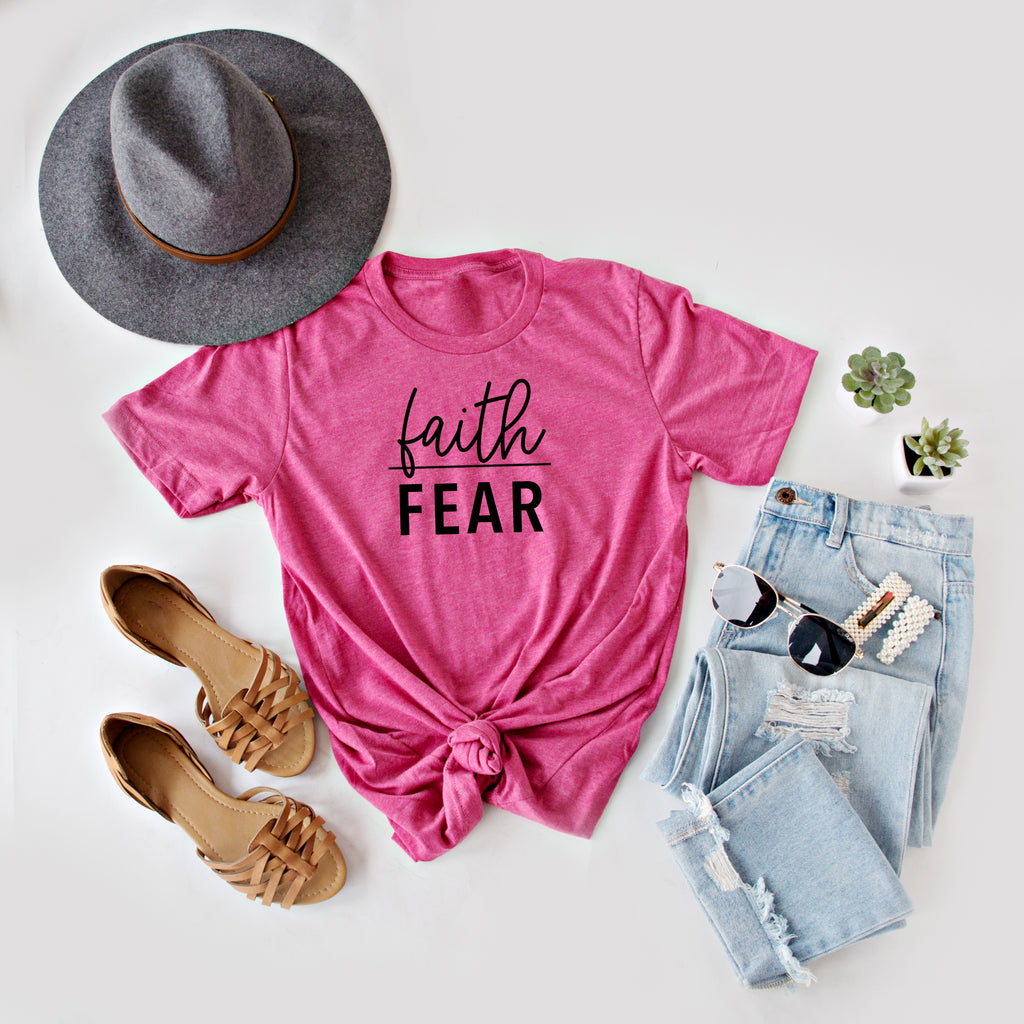 FAITH OVER FEAR GRAPHIC TEE | 5 COLORS