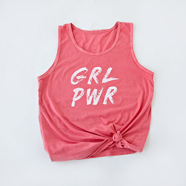 ADULT GIRL POWER  GRAPHIC TANK | GUAVA
