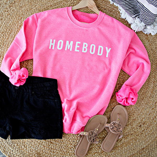 HOMEBODY PULLOVER | NEON PINK