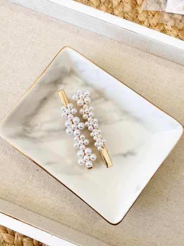 PEARL FLOWER CLIP