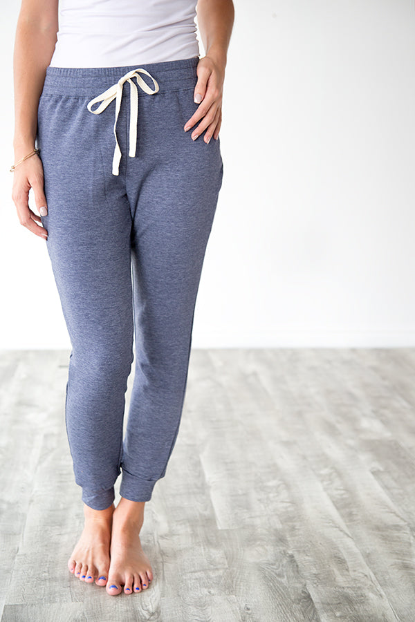 LOUNGE WEAR JOGGERS | DUSTY NAVY