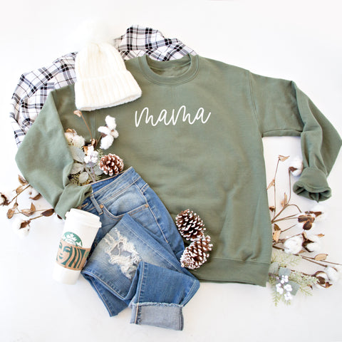 MAMA PULLOVER | OLIVE