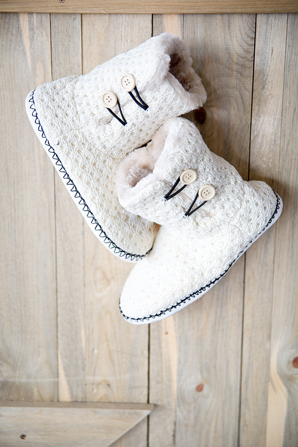 LOUNGEWEAR SLIPPERS | IVORY