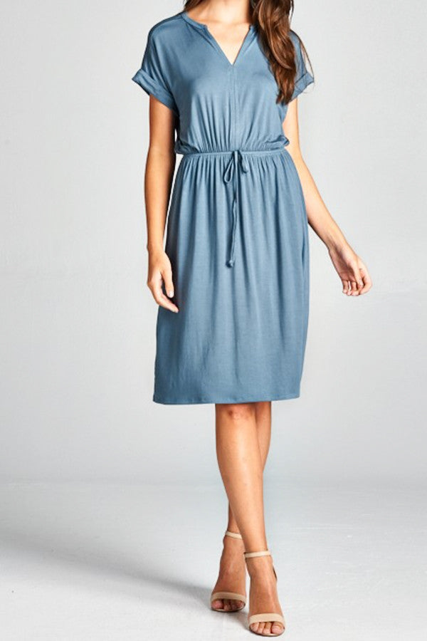 PERFECT SPRING DRESS | DUSTY BLUE