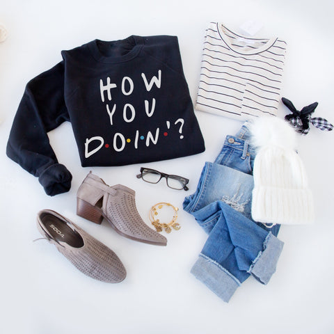 HOW YOU DOIN' PULLOVER |BLACK