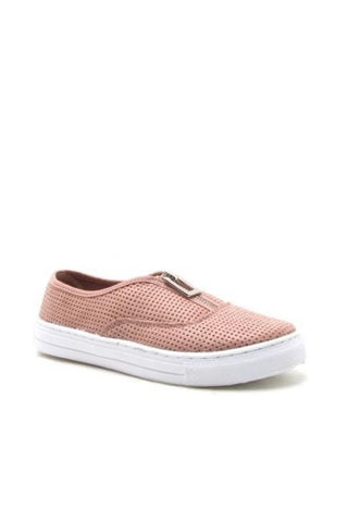 REBA SNEAKER WITH ZIPPER | BLUSH
