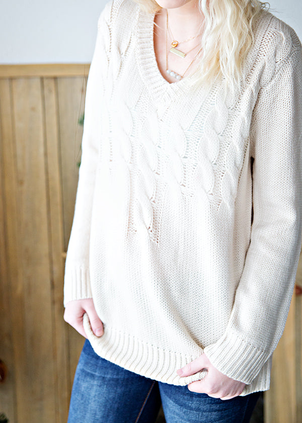 SNOWY NIGHTS SWEATER | CREAM