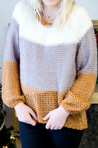 KALI COLORBLOCK SWEATER