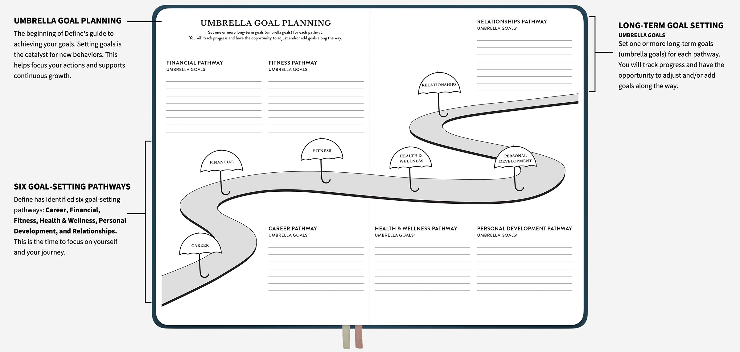 Example of the umbrella goal layout