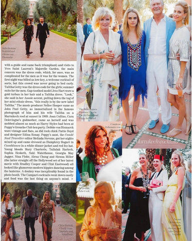Poppy Delevingne's Wedding Parties in Marrakech at the Talitha Getty night at La Mamounia