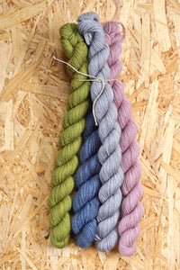 Corriedale twist mini skein set