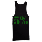 5% Love It Kill It, Black Ribbed Tank Top with Green Lettering - Pro-flexx